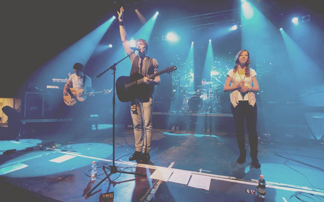 Planetshakers band playing in Budapest