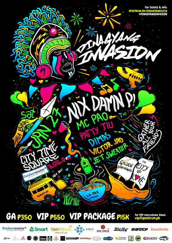 Poster for the Dinagyang Invasion 2018 event