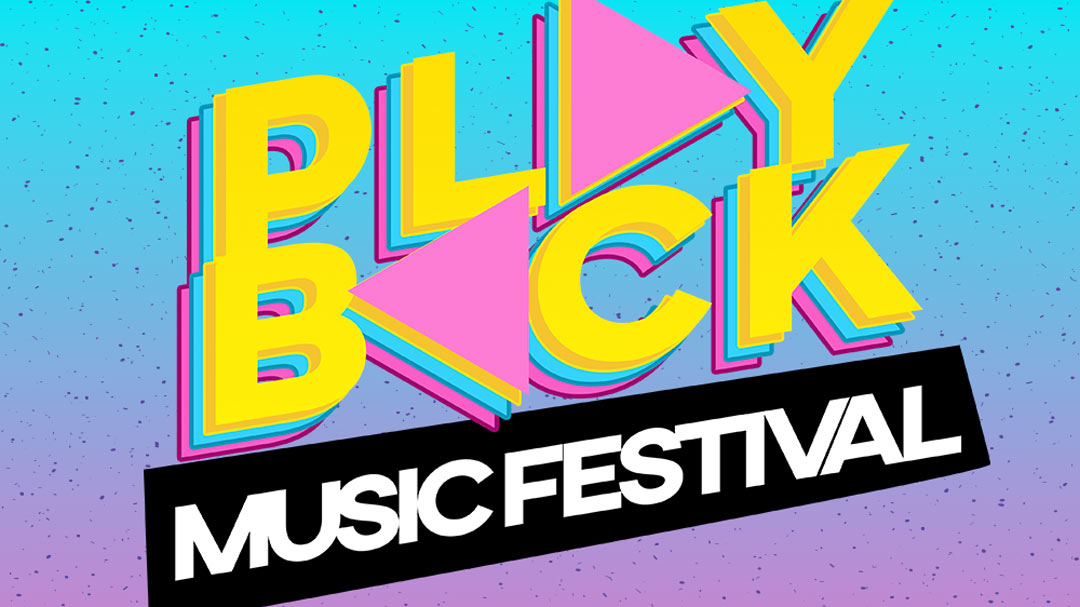 The poster for the Playback Music Festival in 2018.