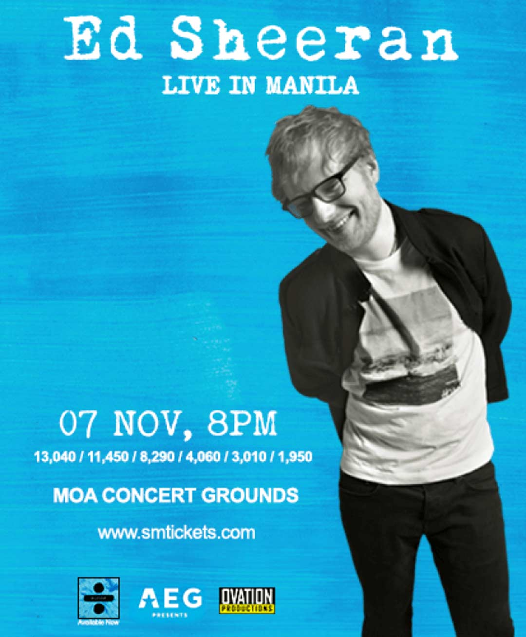 Poster for Ed Sheeran's concert in Manila this 2018.