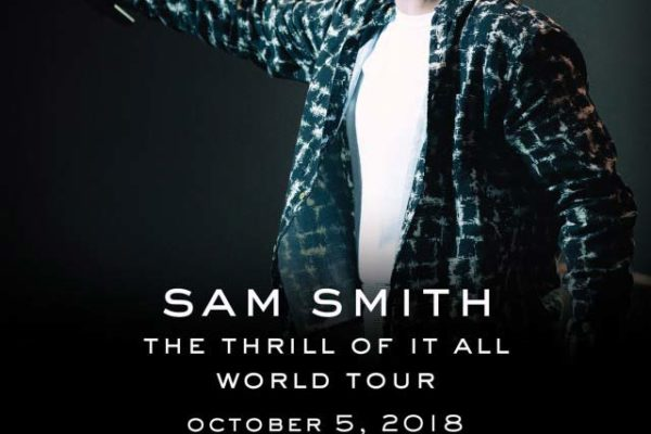Sam Smith poster for THe Thrill of it All World Tour Manila Stop 2018