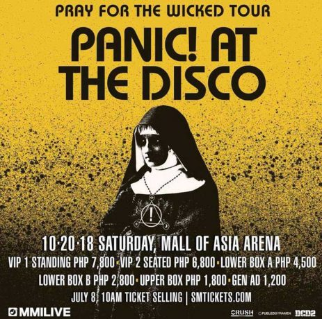 "Panic! At The Disco ""Pray for the Wicked"" in Manila 2018 poster"